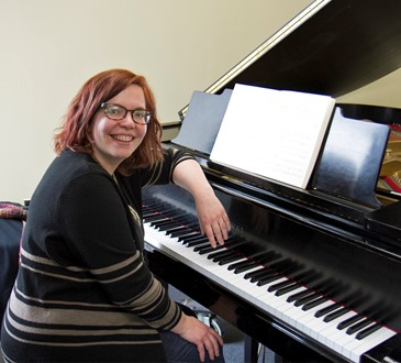Melissa Bergstrom at piano