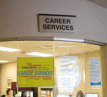 Career Services Sign
