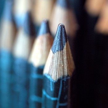 close up of pencils