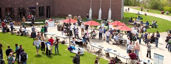 Student Picnic on the Riverside Plaza at Coon Rapids