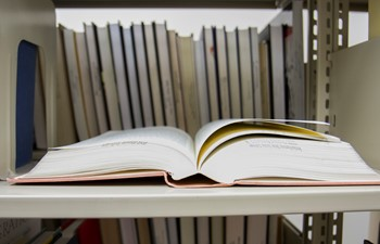 book on library shelf