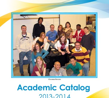 2013-14 academic catalog cover