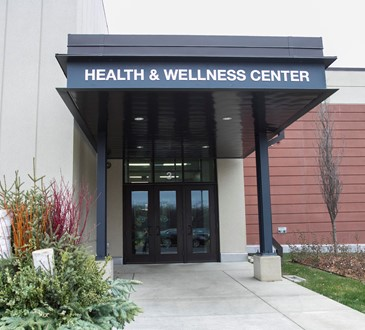 health and wellness center entrance