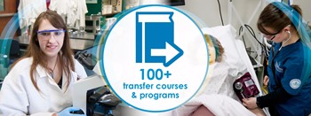 100+ transfer courses & programs